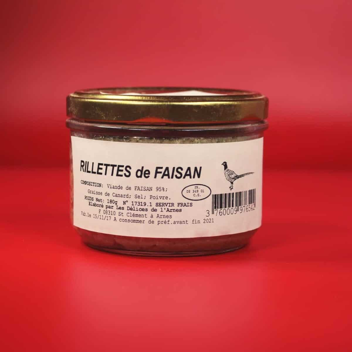 Rillettes Faisan, Ardennes, Terroir, Délice, Arnes