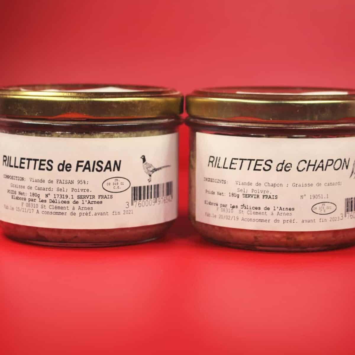 Rillettes, Faisan, Chapon, Ardennes, Terroir, Arnes, Délice, Vat
