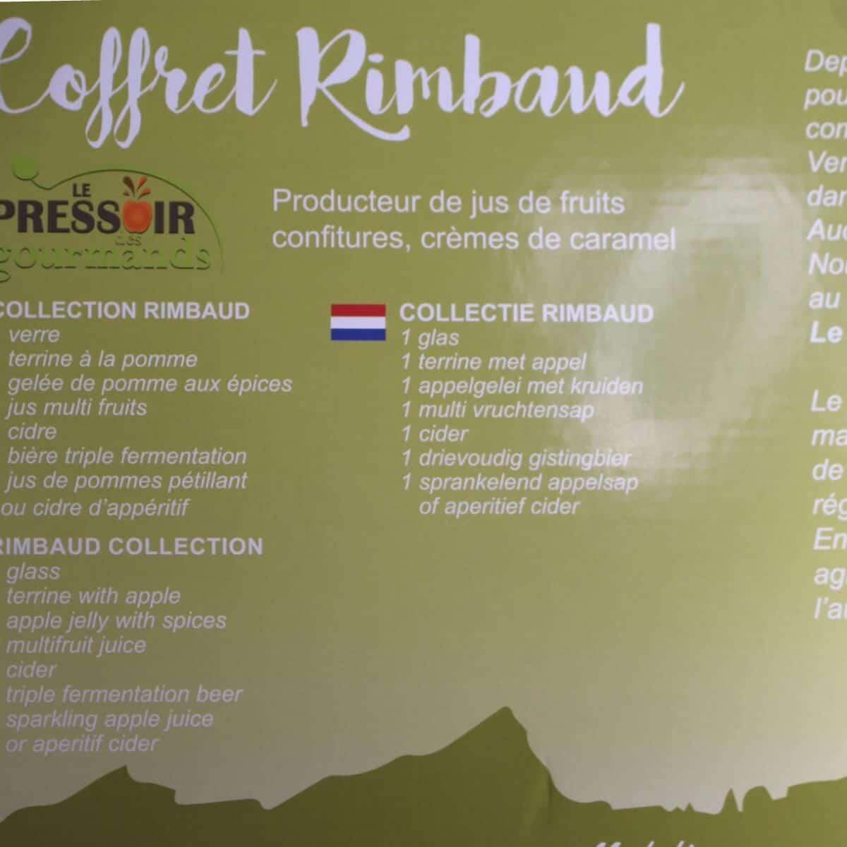 Coffret, Terroir, Rimbaud, Ardennes, Boissons, Jus, Verre, Terrine